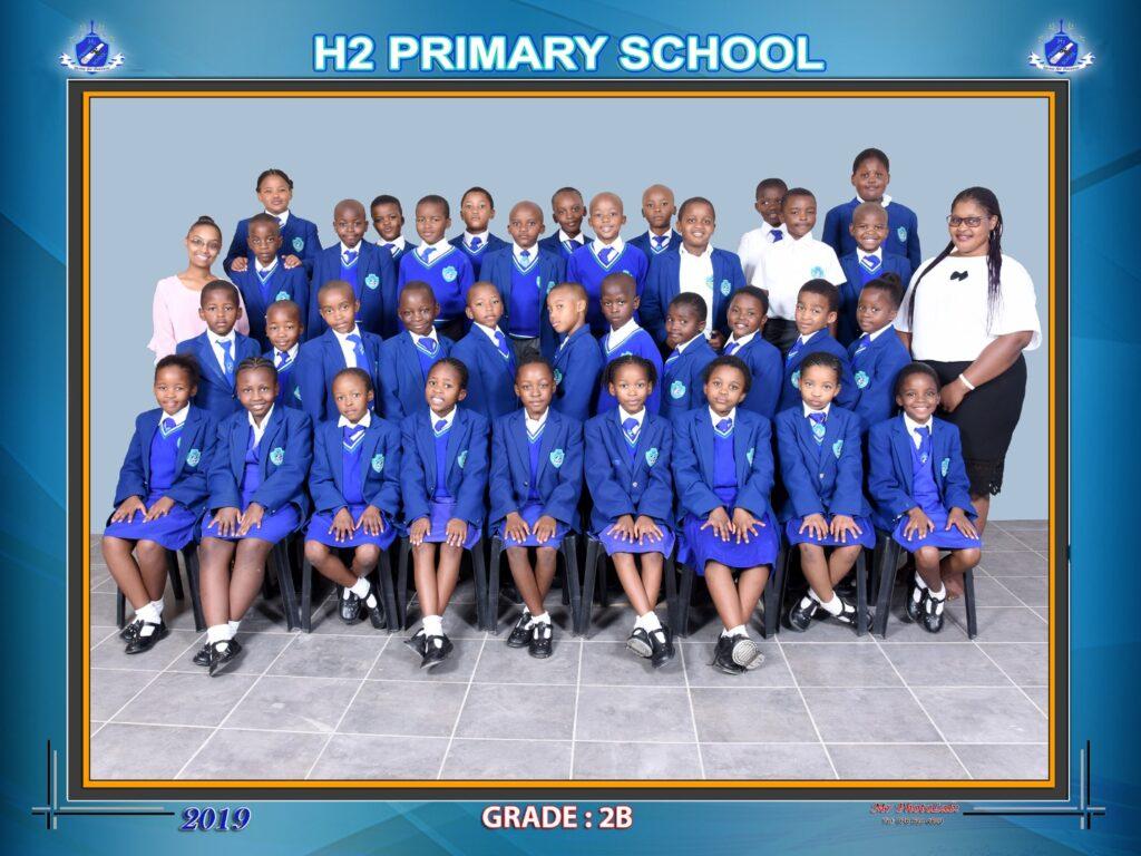 Class Photo Grade 2B 2019