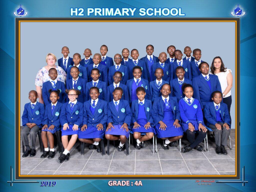 Class Photo Grade 4A 2019